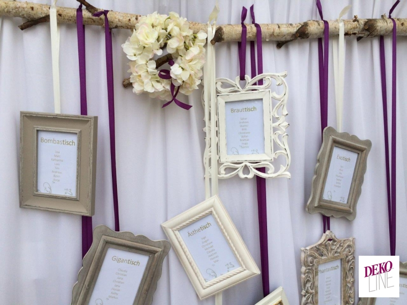 Hochzeitsdeko Vintage Elegant Deko Line